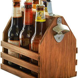 Other - Wood Beer crate with metal bottle opener